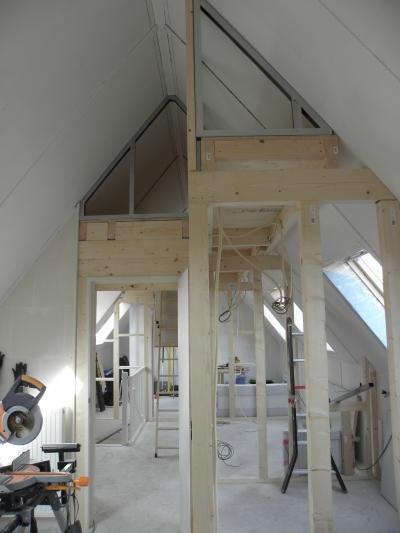 voor vliering en muren opbouwen frame voor vliering en muren