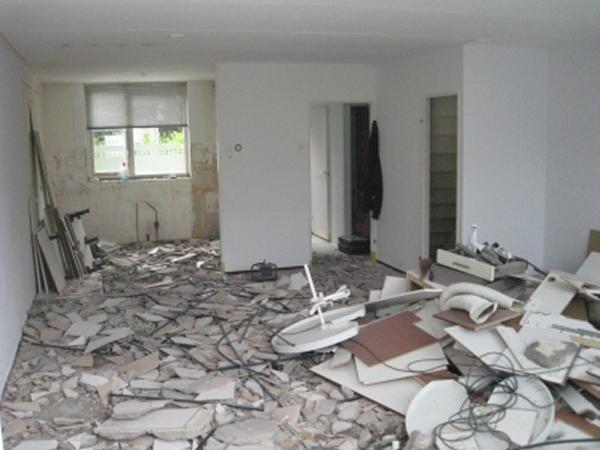 Vloertegels Keuken Verwijderen : Vloerverwarming en renovatie beganegrond woonhuis – Decotronics