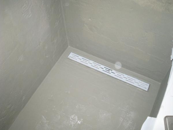 Vloer doucheruimte geheel waterdicht maken